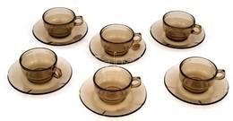 Pirex Kávéskészlet 6 Csésze, Aljjal. Jelzett, Hibátlan. - Porselein & Ceramiek