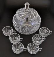 Kristály Bólés Készlet 6+1 Darabos. Hibátlan. - Glass & Crystal
