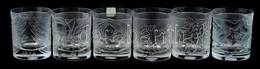 Riedel ólomkristály Whiskys Pohár Készlet, 6db, Jelzett, Hibátlan, M: 10,5 Cm D: 9 Cm - Glass & Crystal