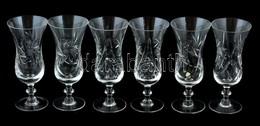 6 Darabos Kristály Pezsgős Pohár Készlet. Hibátlanok 17 Cm - Glass & Crystal