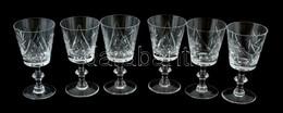 6 Darabos Kristály Borospohár Készlet. Hibátlanok 14 Cm - Glass & Crystal