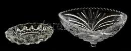 2 Db öntött üveg Tálka, Hibátlan De Piszkos, 16×16 Cm, D:11 Cm - Glass & Crystal