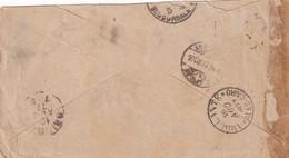 066/31 -- EGYPT TPO'S - Perfect Strike AMBULANTE ALES-CAIRO 1877 On Swiss Envelope ENNEDA - CAIRO  (slightly Shortened) - Ägypten