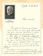 LETTRE D' ENFANT DECOREE à L' EFFIGIE Du MARECHAL PETAIN +SLOGAN - 1939-45