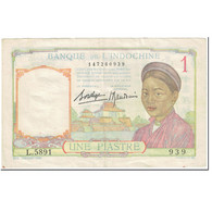 Billet, FRENCH INDO-CHINA, 1 Piastre, 1936, Undated (1936), KM:54b, TTB - Indochina