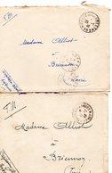 2 L - (Cachets Avec Numéro )-  *183*-  *N°183*- -Secteur Fortifié De La Sarre- - Guerra Del 1939-45