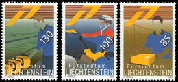 Liechtenstein 1447/49 Facteurs, Moto - Post