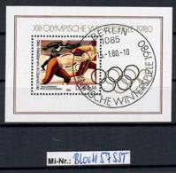 DDR Block 57 Olympische Winterspiele 1980 Block Mit Sonderstempel - [6] Oost-Duitsland