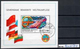 DDR Block 58 Interkosmos 1980 Sauber Gestempelter Block - [6] Oost-Duitsland