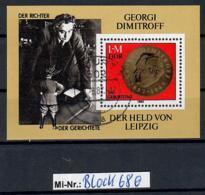 DDR Block 68 Georgi Dimitrow 1982 Sauber Gestempelter Block - [6] Oost-Duitsland