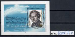 DDR Block 76 Felix Mendelssohn 1984 Sauber Gestempelter Block - [6] Oost-Duitsland