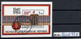 DDR Block 77 Jubiläum DDR 1984 Sauber Gestempelter Block - [6] Oost-Duitsland