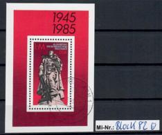 DDR Block 82 Befreiung Vom Faschismus 1985 Sauber Gestempelter Block - [6] Oost-Duitsland