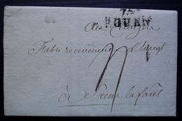 Rouen Fructidor L'an 2 Circulaire Sur Les Fourrages Avec Cachet 74/ROUEN (30 X 13) - Documents Historiques