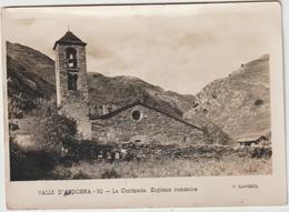 Andorre , Andorra : Vue La  Cortinada , églisia  Romanica  ( V. Claverol )destinée à St Vincent Du Lorouer  1955 - Andorre