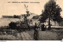 COEUILLY Par CHAMPIGNY  Coin Artistique.  2 Scans - Champigny Sur Marne