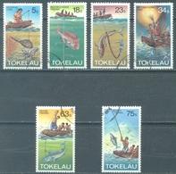 TOKELAU - USED/OBLIT. - 1982  - METHOD OF FISHING - Yv 85-90 -  Lot 21656 - Tokelau