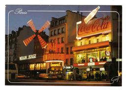 75 Paris Montmartre Le Moulin Rouge Place Blanche Revue FORMIDABLE N°2422 PUB Coca Cola Quick Car BUS - París La Noche