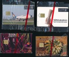 1992 4 Db Használatlan Telefonkártya, Bontatlan Csomagolásban. Benne Malév, Hermann Crystal (4000db) - Phonecards