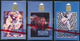 1992 K. Némethy - Vető Festmények. Használatlan, Sorszámozott Telefonkártya, Bontatlan Csomagolásban. 3 Db - Phonecards
