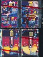 1992 K. Némethy - Vető Festmények. Használatlan,  Telefonkártya, Bontatlan Csomagolásban. 4 Db Különböző - Phonecards