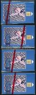 1992 K. Némethy - Vető Absztrakt Festmények. Használatlan, Sorszámozott Telefonkártya, Bontatlan Csomagolásban. 4 Db - Phonecards