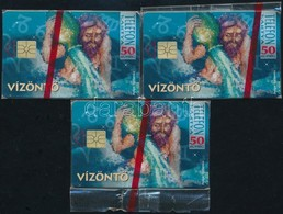 1996 Vízöntő Horoszkópos Telefonkártya, 3 Db Bontatlan Csomagolásban - Phonecards