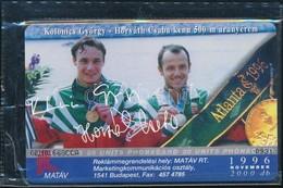 1996 Kolonics György, Horváth Csaba, Olimpia Telefonkártya Használatlan, Bontatlan Csomagolásban. Sorszámozott. Csak 200 - Phonecards