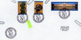 2727/29 (musée Afrique Centrale) Sur Lettres Avec 2 Cachets DIFFERENTS Prévente & 1er Jour (voir 2 Scan & Descr) - Postmark Collection