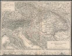 Cca 1873-1878 Osztrák-Magyar Monarchia Térképe, Körbevágott, 20x25 Cm - Maps