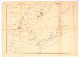 1904 A Kelet-ázsiai Harctér, 1:5.000.000, Budapesti Hírlap 32-33. O., 1904. Feb. 14., 42x65 Cm +cca 1904 Kelet-Ázsa Térk - Maps