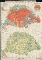Cca 1900-1910 Magyarország Néprajzi és Mezőgazdasági Térképe, 1:5.000.000, Bp., Magyar Földrajzi Intézet Rt., Körbevágot - Mapas