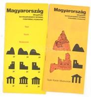 1977 Magyarország Látogatható Természetvédelmi Területei, Műemlékei, Múzeumai, 2 Db Térkép - Mapas