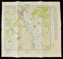 1970 Szegvár L-36-97-D Katonai Térkép, 48×53 Cm - Mapas
