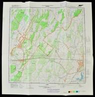 1982 Nyírábrány Katonai Térképe, 47×47 Cm - Mapas