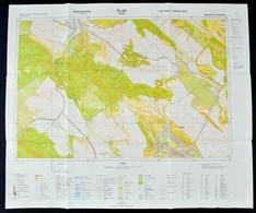 1981 Nyagysáp Katonai Térképe, 58×69 Cm - Mapas