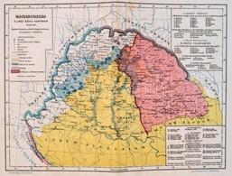 Magyarország A Linzi-béke Korában 1645-48., 1:4.000.000, Tervezte: Dr. Acsády Ignác, Kiadja: Athenaeum Rt., 27,5×36 Cm,  - Mapas