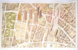 1980 A Bird's-eye View Of Shinjuku, Tokyo, 56×90 Cm - Mapas