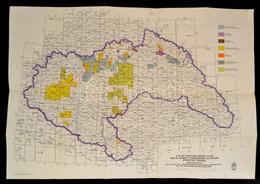 1940 A M. Kir. Földtani Intéztet által 1940-ig Végzett új Rendszerű Felvételek átnézetes Térképe, Kiadja: M. Kir. Honvéd - Mapas