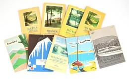 Cca 1960-1970-es évek 9 Db Kartográfia Turistatérkép (Mátra, Bükk, Mecsek, Aggtelek, Cserhát, Balaton, Stb.) - Mapas