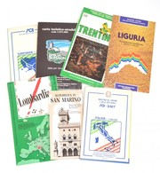 7 Db Térkép - Olaszország, Trentino, Liguria, Lombardia, Stb. + San Marino - Mapas