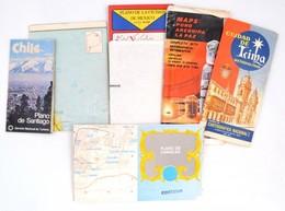 Latin-amerikai Városok Térképei, 6 Db (Santiago De Chile, Mexikóváros, La Paz, Lima, Buenos Aires, Caracas) - Mapas