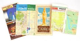 6 Db Várostérkép (Amman, Tokió, Kiotó, Bagdad, Kairó) - Mapas