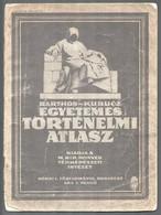 Cca 1932 Barthos-Kurucz: Egyetemes Történelmi Atlasz. Bp., M. Kir. Állami Térképészet, 40 P. Papírkötésben, Kopott, Szak - Maps