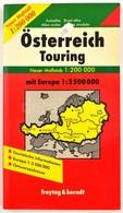 Österreich Touring (1: 200 000), Mit Europa 1: 3 500 000, Freytag&Berndt, Autós Atlasz - Maps