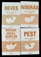 1977-1982 Észak-Magyarországi Megyék Térképei (Heves- , Nógrád-, Borsod-Abaúj-Zemplén), + Pest Megye Térképe, 1: 150.000 - Mapas