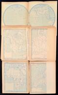 Cca 1953 18 Db Cirill Betűs Vaktérkép Az Egész Világról - Mapas