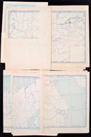 Cca 1953 18 Db Cirill Betűs Vaktérkép A Volt Szovjetunióról - Maps