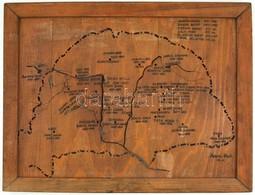 Madaras Albert VIII. O. Jelzéssel: Nagy-Magyarország Térképe Történelmi Személyiségek, írók, Költők Stb. Születési Helye - Maps