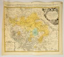 1750 Mappa Specialis Principatus Halberstadtis - Halberstadt Térképe. Johann Baptist Homann:. Színezett Rézmetszet / Map - Mapas